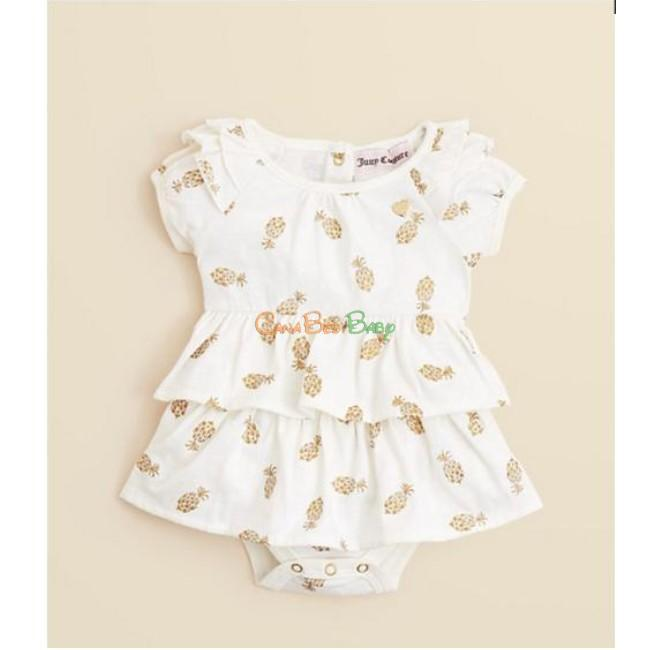 Juicy Couture JCTNG0435 Girls Pineapple Creeper Bodysuit - CanaBee Baby