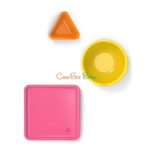 Lollaland Mealtime Set Yellow/Orange/Pink - CanaBee Baby