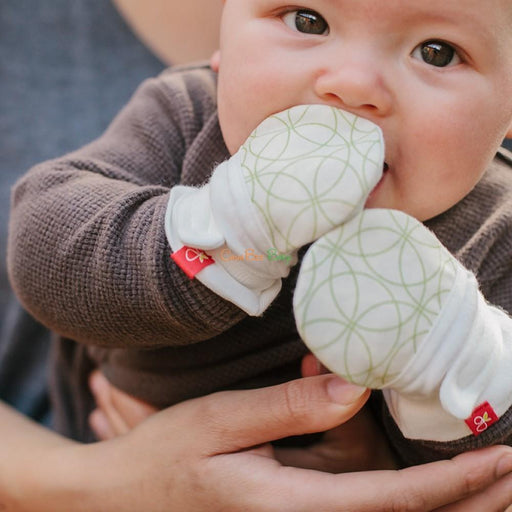 Goumikids Baby Mitts - Grey Drops - CanaBee Baby