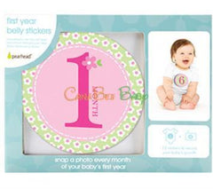 Pearhead Milestone Stickers - Girl Color - CanaBee Baby