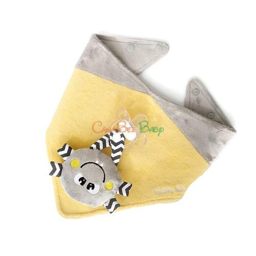 Munch Mitt Buddy 3-in-1 Bib - Yellow - CanaBee Baby