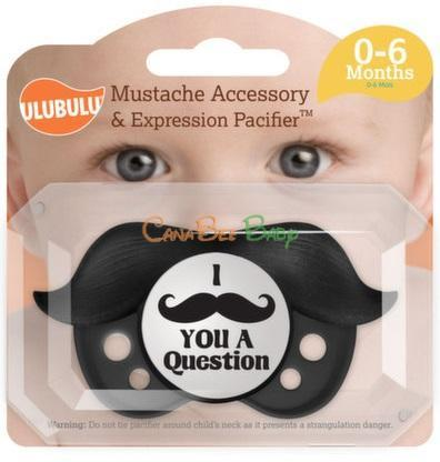 Ulubulu Mustache & Pacifier Boy for 0-6m