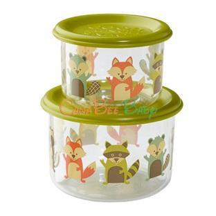 Sugarbooger Good Lunch Snack Containers Large Set-of-Two-What Did Fox Eat? - CanaBee Baby