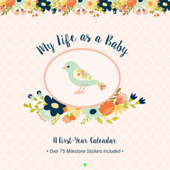 My Life As a Baby: A First-Year Calendar - Birds - CanaBee Baby