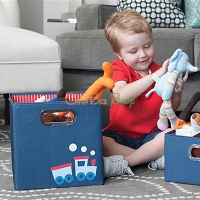 "JJ Cole Storage Box in Kids' Patterns (11""h x 11""w x 11""d) - CanaBee Baby"