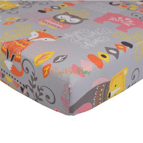 Lolli Living Crib Fitted Sheet - Enchanted Garden Print