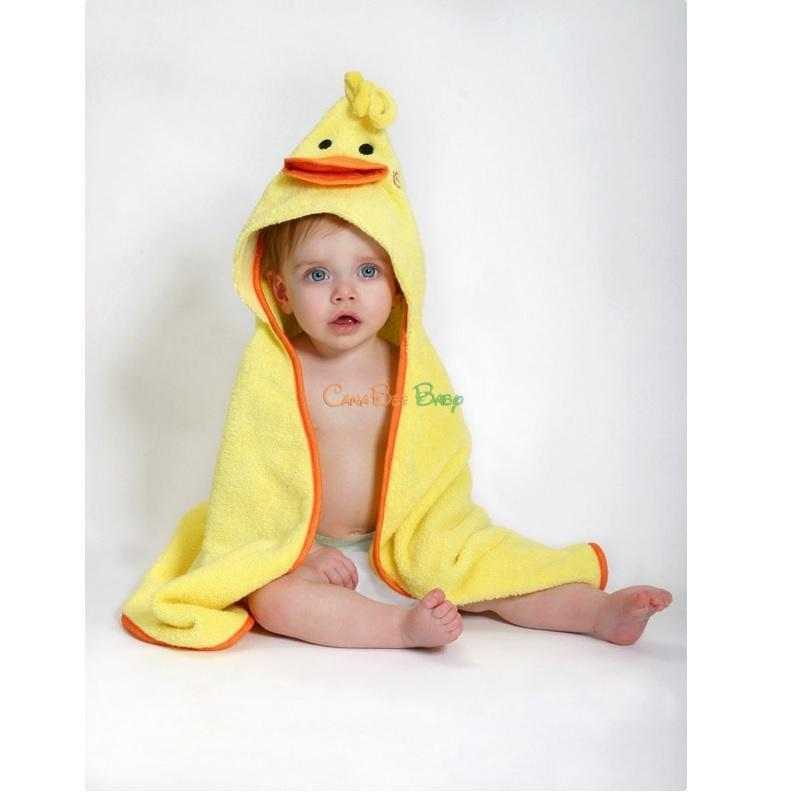 Zoocchini Baby Hooded Towel Puddles the Duck - CanaBee Baby