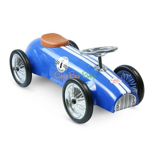 Vilac Blue Racing Ride-on-Car - CanaBee Baby