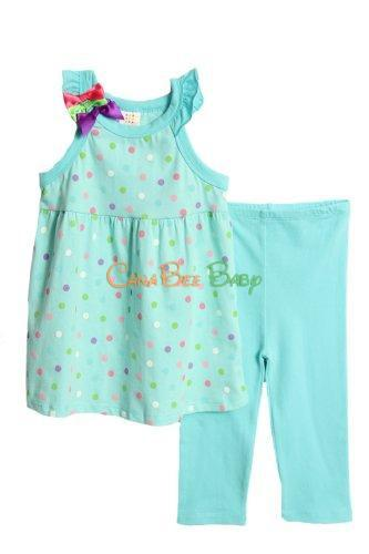 Absorba 5240 Blue Tunic Capri Set - CanaBee Baby