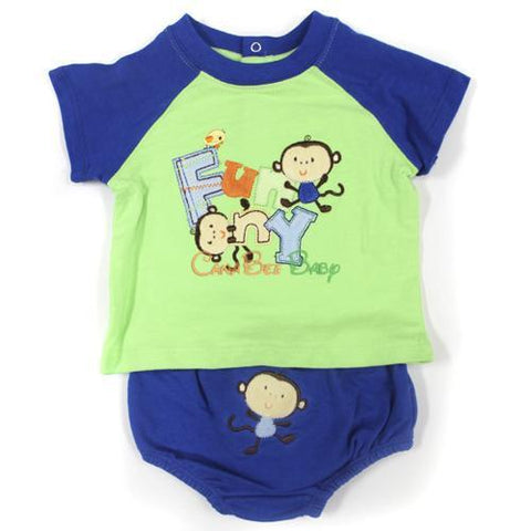 Absorba 5189 Blue Short Set - CanaBee Baby