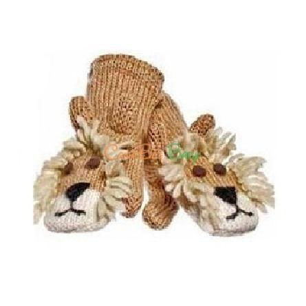 Knitwits Lincoln the Lion Mittens - CanaBee Baby