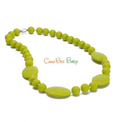 Chewbeads Perry Teething Necklace - Chartreuse - CanaBee Baby