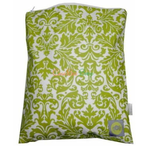 Itzy Ritzy Travel Happens Sealed Wet Bag - Avocado Damask - CanaBee Baby