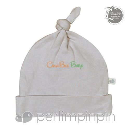 Perlim Pin Pin Bamboo Knotted Hat - Latte Solid - CanaBee Baby