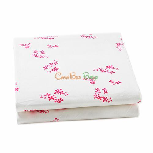 Auggie Crib Fitted Sheet - Pretty with Pink