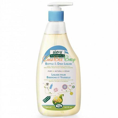 Aleva Naturals Bottle & Dish Liquid Fragrance Free 500ml - CanaBee Baby