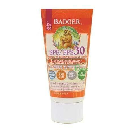 Badger SPF30 Kids Sunscreen Cream - CanaBee Baby