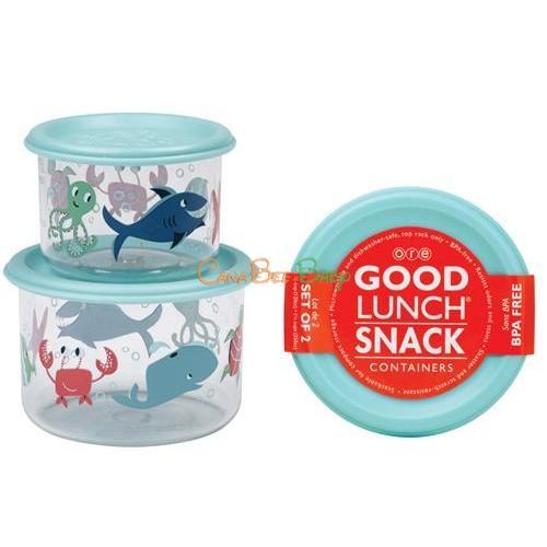 Sugarbooger Good Lunch Snack Containers Small Set-of-Two-Ocean - CanaBee Baby