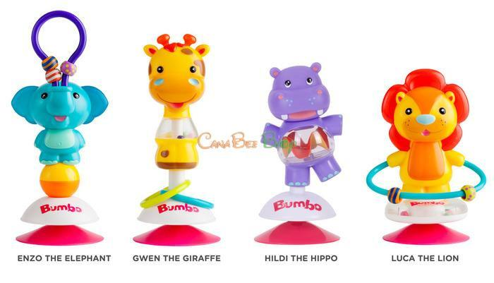 Bumbo Suction Toy Hildi Hippo - CanaBee Baby