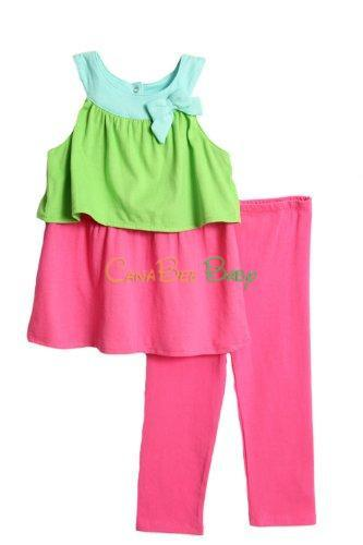 Absorba 5237 Pink Tunic Capri Set