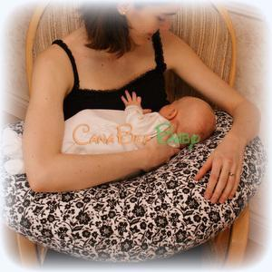 Cozy Cuddles Nursing Pillow - Floral Cream - CanaBee Baby