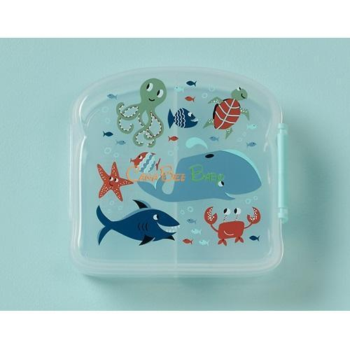 Sugarbooger Good Lunch Sandwich Box - Ocean - CanaBee Baby