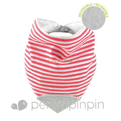 Perlim Pin Pin Bubbly Teething Bib Red Stripe - CanaBee Baby