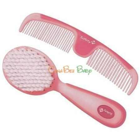 Safety 1st Easy Grip Brush and Comb Set Pink IH172/49715PNK - CanaBee Baby