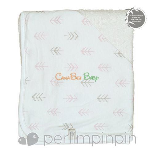 Perlim Pin Pin Bamboo Hooded Towel - Arrows Print - CanaBee Baby