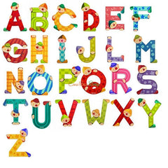 Janod Clown Wood Letters - W - CanaBee Baby
