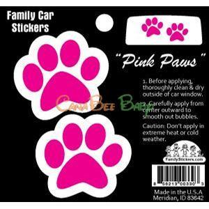 Family Car Stickers (Full Color) - Pink Paws - CanaBee Baby