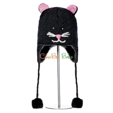 Knitwits Kiki the Kitty Pilot Hat - CanaBee Baby