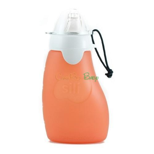 Sili Squeeze with Eeeze-4oz Orange - CanaBee Baby