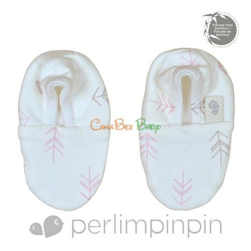 Perlim Pin Pin Bamboo Booties - Arrows Print - CanaBee Baby
