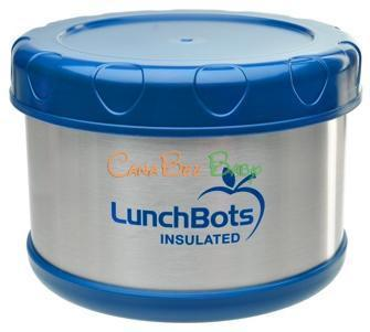 Lunchbots thermal 16oz dark blue - CanaBee Baby