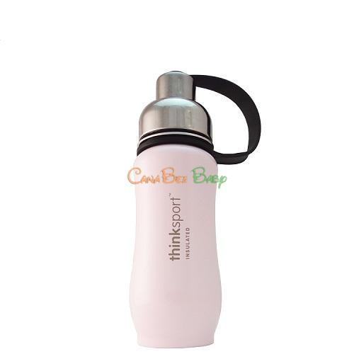 ThinkSport Insulated Sports Bottle in Light Pink 350ml - CanaBee Baby