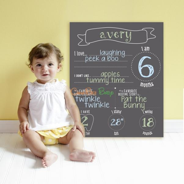 Pearhead Chalkboard Photo Background - CanaBee Baby