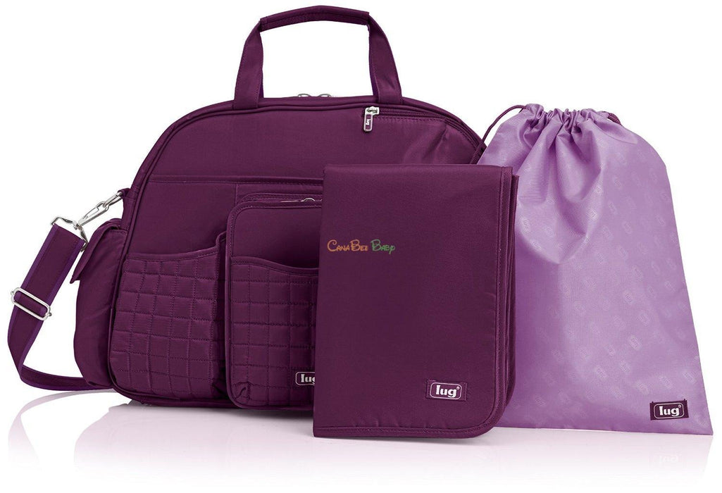 Lug Tuk Tuk Carry All Diaper Bag Plum - CanaBee Baby