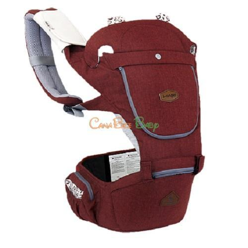 i-Angel Hello Hipseat Baby Carrier - Melange Red - CanaBee Baby