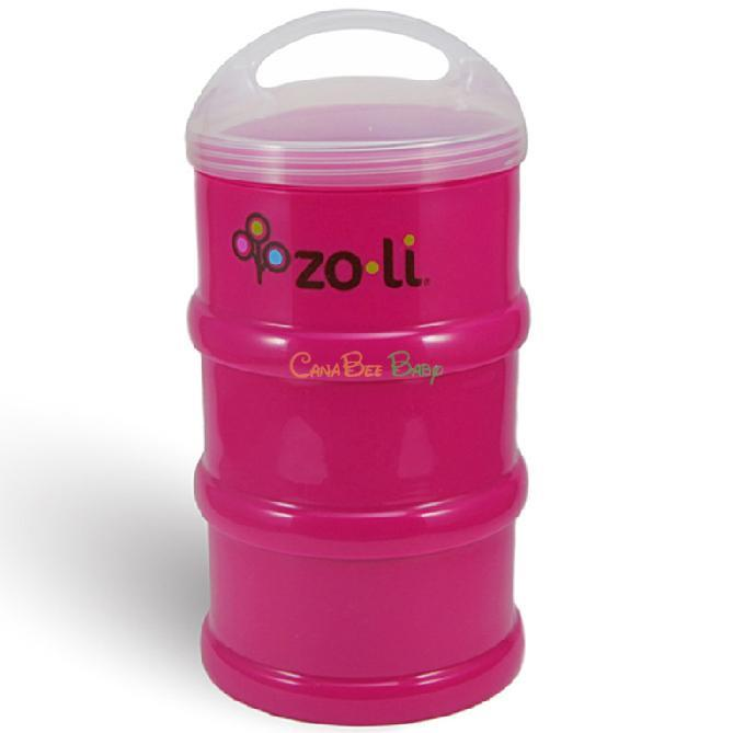 Zoli Sumo Snack Stack Dispenser in Solid Color - Pink - CanaBee Baby