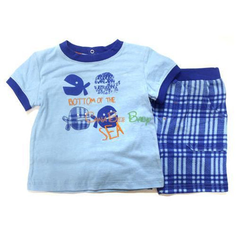Absorba 5209 Plaid Short Set