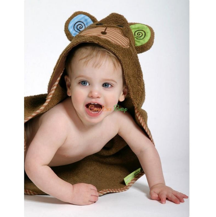 Zoocchini Baby Hooded Towel Max the Monkey - CanaBee Baby