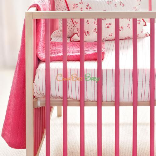 Auggie Crib Fitted Sheet - Pretty with Pink - CanaBee Baby