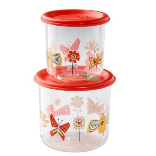 Sugarbooger Good Lunch Snack Containers Large Set-of-Two-Bird and Butterflies - CanaBee Baby