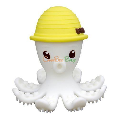 Mombella Octopus Teether - Lemon - CanaBee Baby