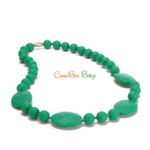 Chewbeads Perry Teething Necklace - Emerald Green - CanaBee Baby