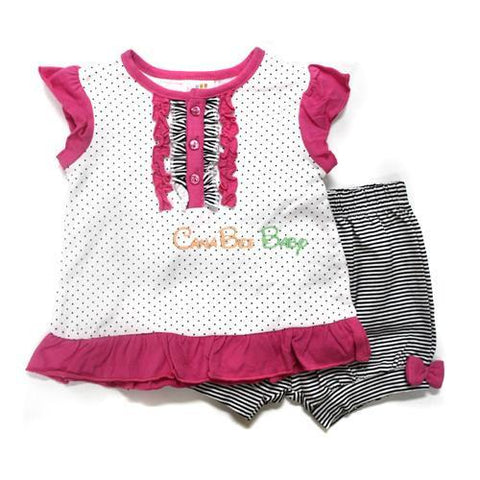 Absorba 5195 Polkadots Short Set - Toddler - CanaBee Baby