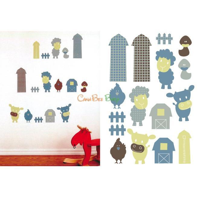 Perlim Pin Pin Wall Stickers - Farm Buddies - CanaBee Baby