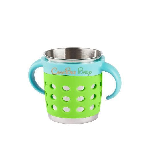 Make My Day Adjustable Sippy Cup - Green/Blue - CanaBee Baby