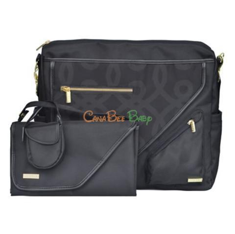 JJ Cole Metra Diaper Bag in Black/Gold - CanaBee Baby